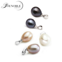 Freshwater Pearl Pendant 925 silver,9-10mm real natural pearl jewelry wholesale