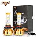 Auxbeam Cree SMD Chips 9005/HB3 Car Headlight Bulbs 60W/pair F16 Gold Color Aluminum Refitment Fog Lamps for SUV 9005 Car Bulbs