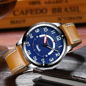Image 2 - CURREN Reloj de pulsera para hombre, de cuero de moda, de lujo, con fecha y calendario, de cuarzo, informal