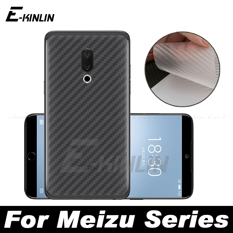 Carbon Fiber Back Cover Screen Protector Protective Film For <font><b>MeiZu</b></font> 16T X8 <font><b>16</b></font> 16th 16S <font><b>Pro</b></font> 15 Lite Plus M8c M8 Not Tempered Glass image