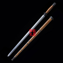Chinese Sword Qi Jian Hand Forged 1045 Carbon Steel Straight Blade Rose Wood Sca