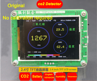 Free Shipping Original 10000ppm S8 CO2 Sensor CO2 Detector With Temperature And Humidity TFT LCD With