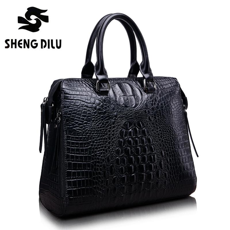 Luxury Bag Leather Handbags Crocodile Women Shell Leather Bag Bolso Bandolera Mujer Piel Luxury Handbags Shoulder Bag Totes Girl
