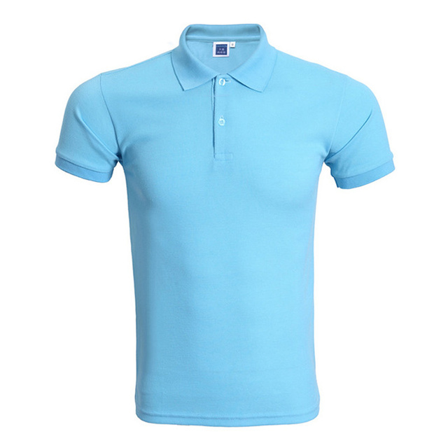 910b1186e89af Brand Sky Blue Polo Shirt Men Polo Homme 2016 Summer Style Solid Color  Short Sleeve Polo