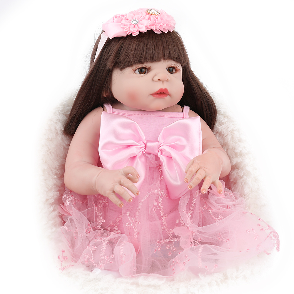NPKDOLL 22 Inch Reborn Baby Doll Full Body Silicone Boneca Babe alive like newborn baby Gifts For girls boys Kids 55cm vinyl