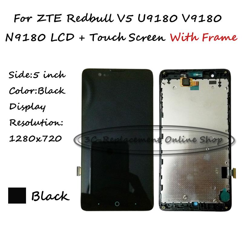 Prix pour LCD + TP + Cadre Pour ZTE Redbull V5 U9180 V9180 N9180 Écran lcd avec Écran Tactile Digitizer Remplacement Smartphone