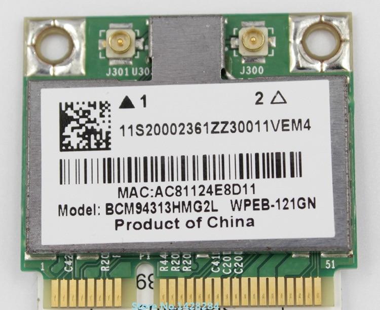 SSEA New For BroadCom BCM94313HMG2L BCM4313 Half Mini PCI-E 802.11 B/g/n Card For IBM Lenovo B560 V560 G555 G560 Z560 Z565