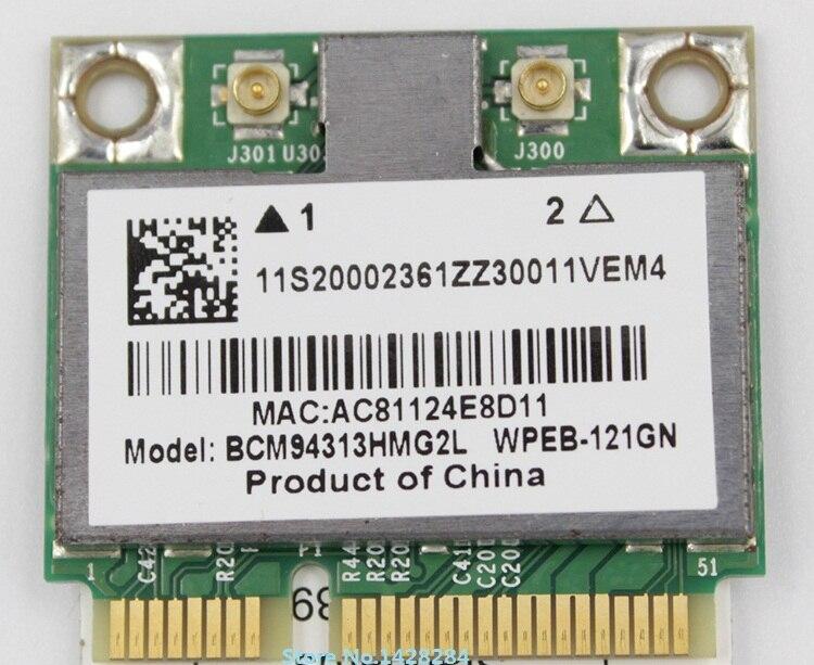 SSEA Nouveau pour BroadCom BCM94313HMG2L BCM4313 Demi Mini PCI-E 802.11 b/g/n Carte pour IBM Lenovo B560 V560 G555 G560 Z560 Z565
