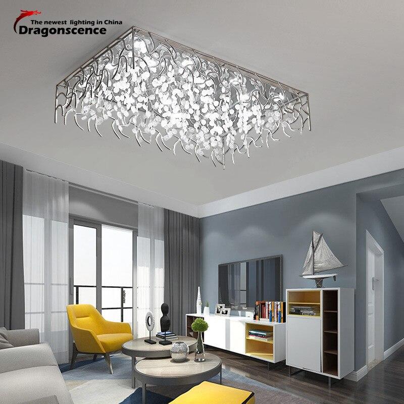 Living Room Lamp Sizes: Dragonscence Modern Led Ceiling Lights For Living Room