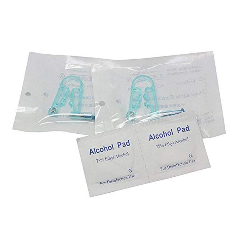 10Pcs Disposable Safety Sterile Ear Piercing Gun Unit Tool with Alcohol Pad Asepsis Pierce Kit for Piercing Supplie 5
