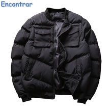 Encontrar Winter Padded Jackets Men Slim Fit Casual Warm Solid Parkas Male Thick Pocket Design Parkas Men Streetwear ,QA411