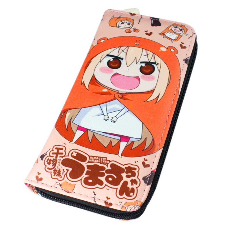 Anime Cartoon Logo Print Himouto Umaru-chan Doma Umaru Long Wallet PU Leather Purse Men Wallets Women Bag Free Shipping japan anime himouto umaru chan wallet doma umaru cosplay coin card women men bifold purse
