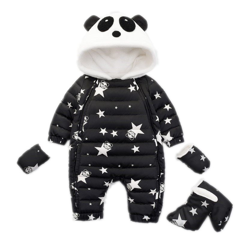 Winter Panda Baby Rompers Overalls Bodysuit Clothes Jumpsuit Newborn Baby Girl Boy Duck Down Snowsuit Clothes Kids Snow Wear