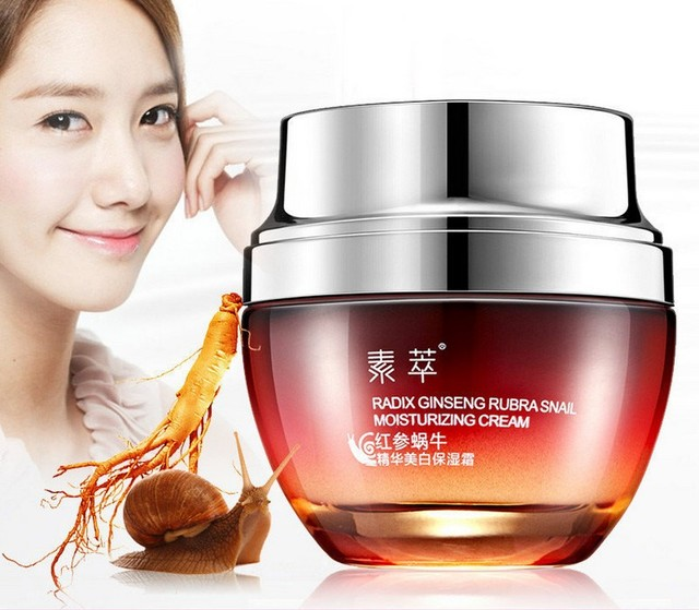 Face Care Red Ginseng Snail Cream Skin Treatment Reduce Scars Acne Pimples Moisturizing Whitening Anti Winkles Aging Cream