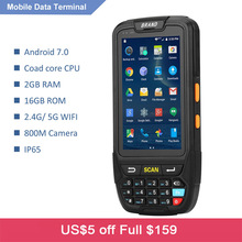 RUGLINE 4G Handheld PDA Android 7 0 POS Terminal Touch Screen 2D Barcode Scanner Wireless Wifi