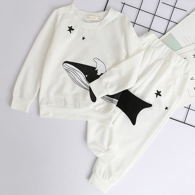 Boys' Long Sleeved Cotton Clothes Set