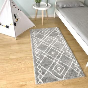 современный открытый коврик | Otomanson Ultimate Shaggy коллекция марокканский Треллис дизайн современный прихожая и кухня шаг бегун ковры, серый