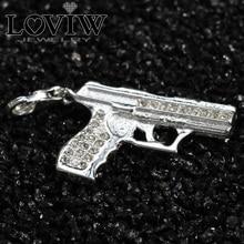 Купить с кэшбэком 3D Charm Pistol Gun Silver pendant For Ladies & Men Trendy Gift German thomas sabor DIY Jewellery Fit European Bracelet Breloque