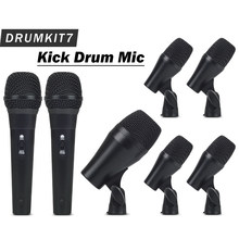 High Quality Professional Percussion Drums Guitar Brass PGA DrumKit7 Instrument Microphone Mic System with Carrying Case(China)