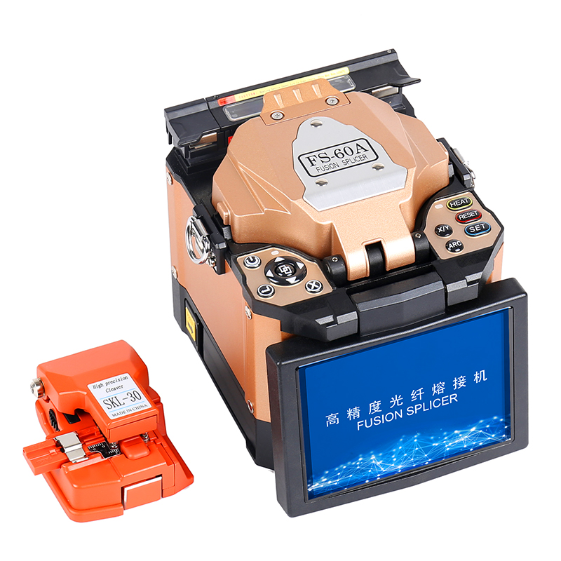 Neue produkt FTTH Fiber Optic Splicer Fiber Optic Fusion Schweißen Spleißen Maschine FS-60A Faser Optische Fusion Splicer