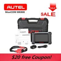 AUTEL MK808 MaxiCom WiFi OBD2 Car Diagnostic Scanner Tool Touchscreen Android Key programming Tablet SAS BMS Auto Code Reader