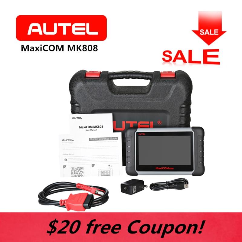 AUTEL MK808 MaxiCom WiFi OBD2 Voiture scanner de diagnostic Outil Écran Tactile Android Clé programmation Tablet SAS BMS Auto Lecteur de Code