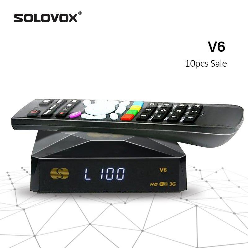 SOLOVOX V6 10pcs Home Theater Mini HD Satellite TV Receiver Support M3U MARS CCCAM TV NOVA