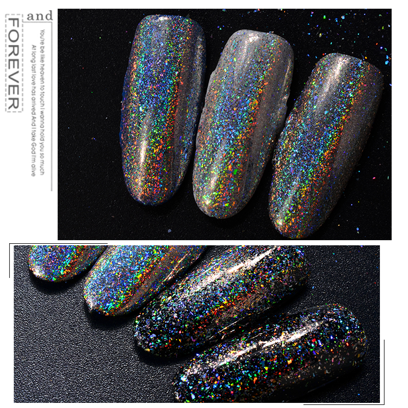 Best Price Nail Glitters Galaxy Holo Flakes 0.2g/box Laser Bling ...