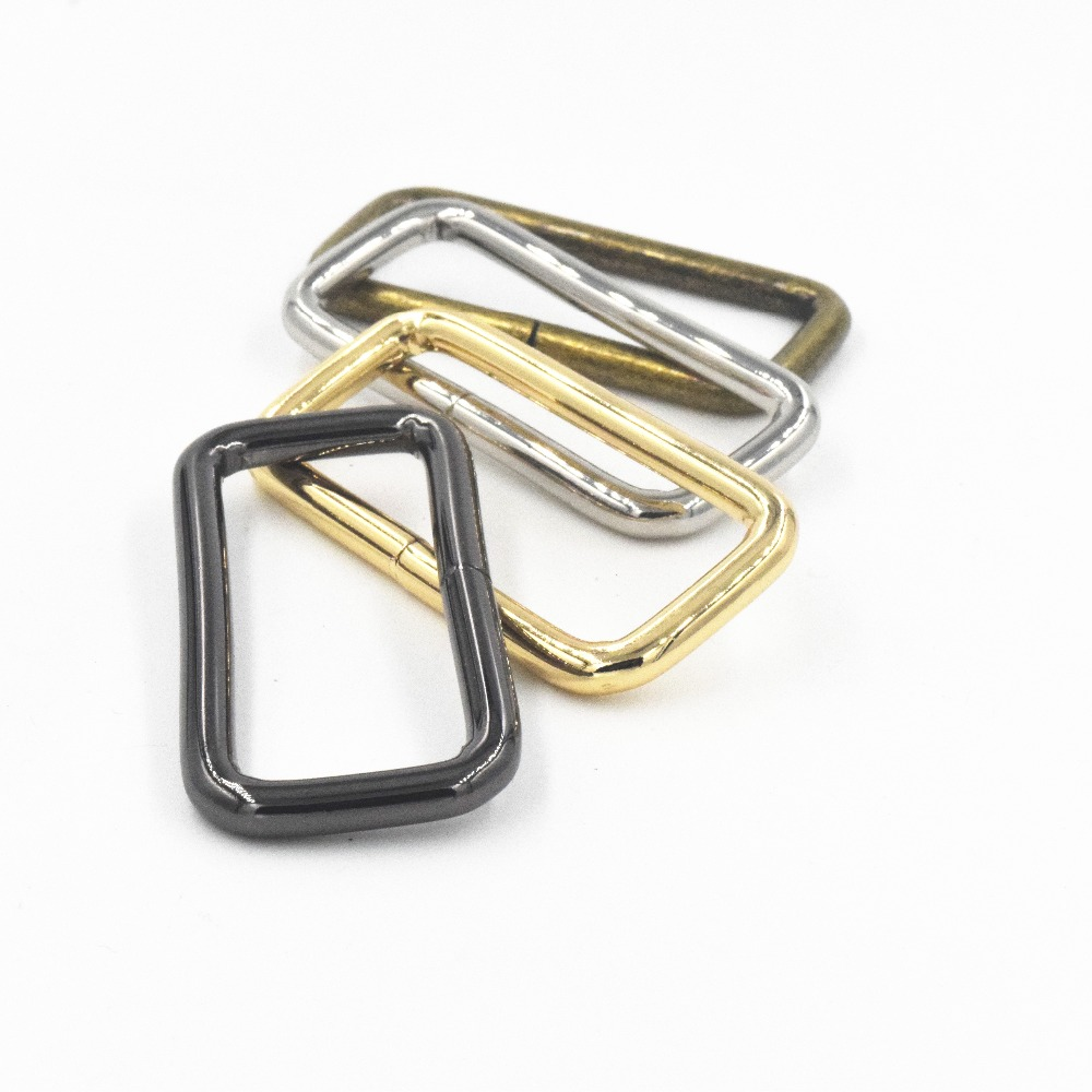 Purse Handbag Loop Hook Metal Rectangle 20mm Webbing Belts Buckle Pack of 20