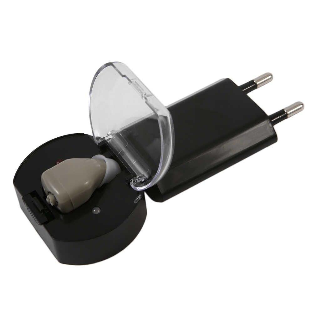 1 takım Audiphone Şarj Edilebilir Işitme cihazları ses amplifikatörü Için Görünmez Yaşlı Sağır Taşınabilir Hafif işitme cihazı dropshipping
