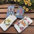 2017 Da marca de luxo Europeu e Americano de jeans bordado tampa móvel telefone proteção case para iphone 6 6 s 6 p 6bp 7 7 plus