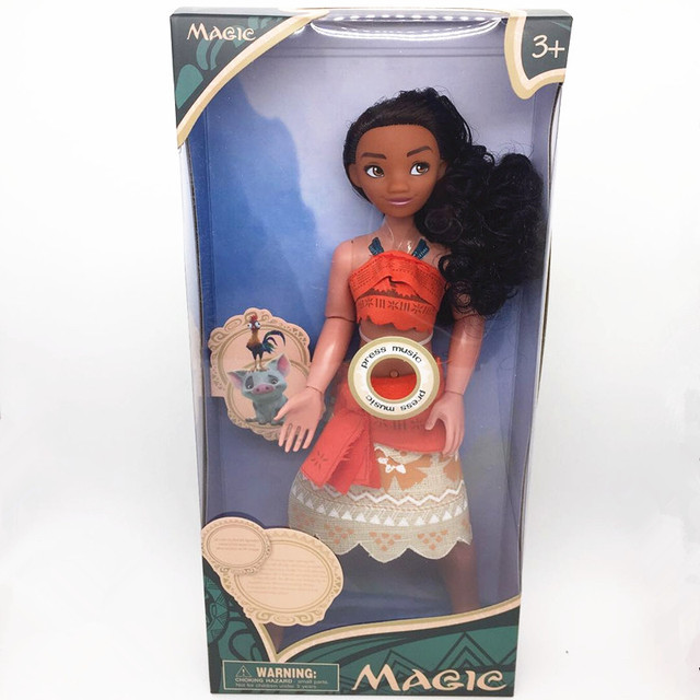 Moana And Maui Action Toy Figures With Light and Music 20cm