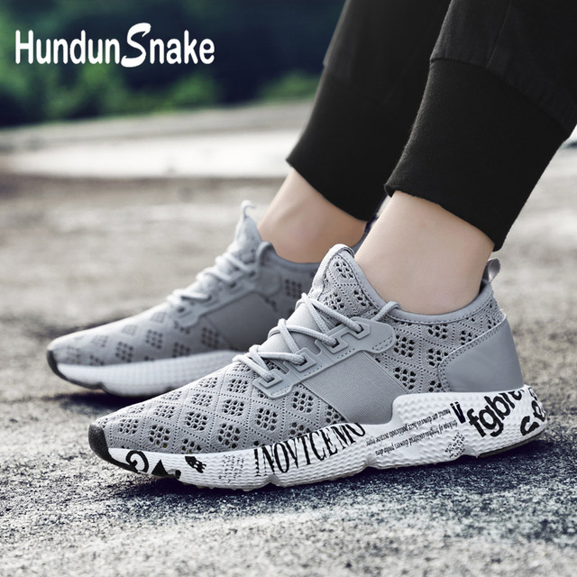 e797a8c20add Hundunsnake Comfortable Chaussure Homme 2018 Man Sneakers Grey Sports Shoes  For Male Running Shoes Men s Autumn Gym Basket G-17