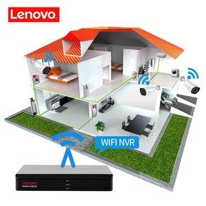 Image 4 - LENOVO 4CH 1080P POE NVR ערכת 2.0MP HD אבטחת CCTV המצלמה מערכת אודיו צג IP מצלמה P2P חיצוני וידאו מעקב מערכת