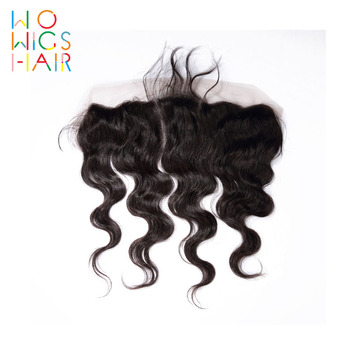 WoWigs Hair Body Wave Lace Frontal Remy Hair Natural Color 100% Human Hair Free Shipping