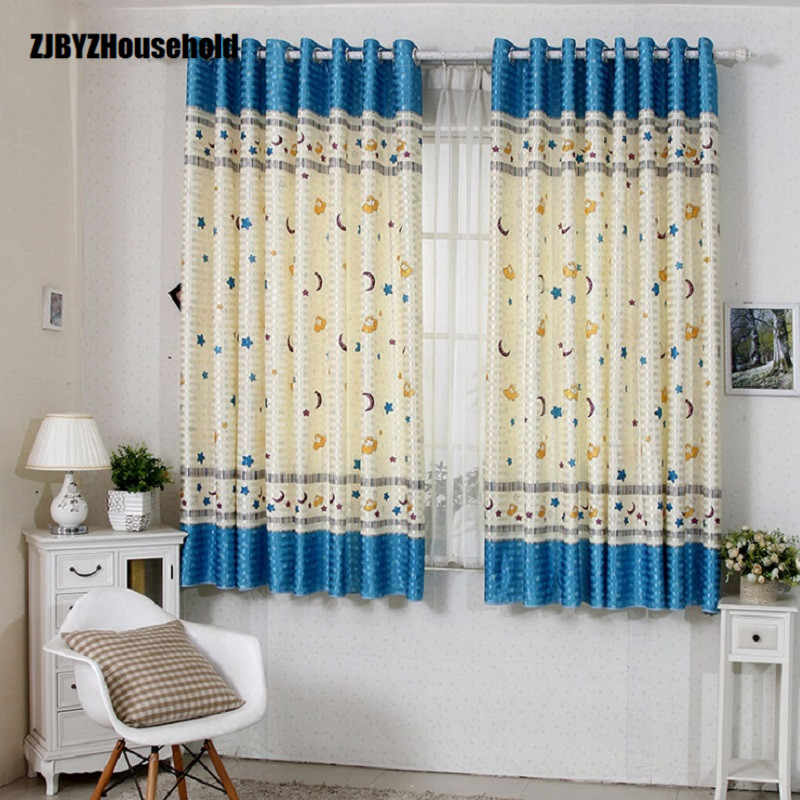 Children's Girls Room Short Warm And Loving Pattern Curtains For Windows Living Room Bedroom Highest Height 2 Meters