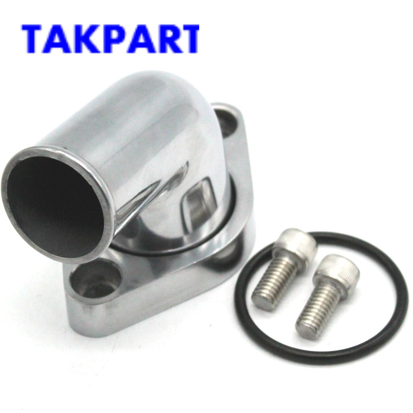Water Neck for Small and Big Block Chevy Engines Polished Aluminum Swivel