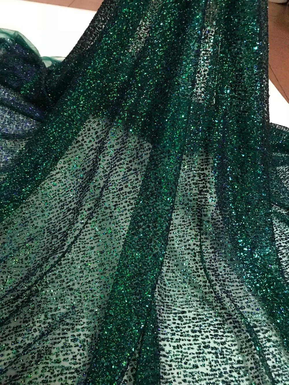 Tulle ลูกไม้ glued glitter แฟชั่น CiCi 101907 แอฟริกัน glitter ลูกไม้ผ้าสำหรับชุดปาร์ตี้ 5 หลา/lot-ใน ลูกไม้ จาก บ้านและสวน บน   1