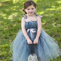 2016 Top Quality Princess Flower Girl Dresses Multicolor Flower 2 12Year Cute Draped Ball Gown Wedding