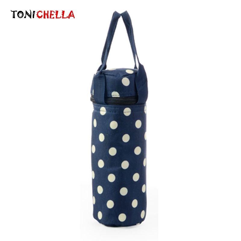 Baby Insulation Breast Milk Bottle Thermal Bag Portable Dot Mummy Travel Infant Feeding Milk Keep Warm Stroller Hang Tote BB5018