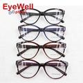2016 New Fashion Women TR90 Optical Frame Vintage Big Round Optical Myopia Eyeglasses Prescription Eyewear 5853