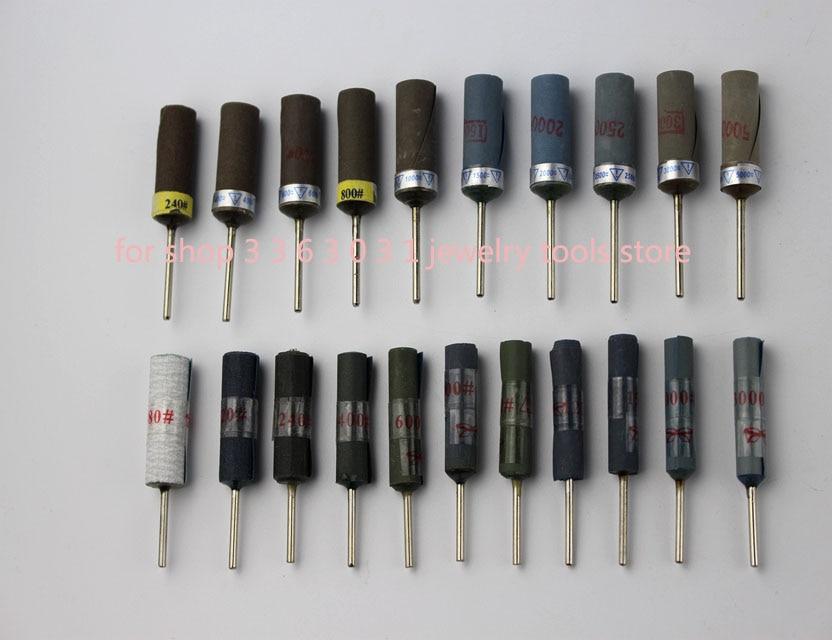 Free Shipping Sandpaper Polishing Burs Stick Roll Dental Manicure Craft Polishing Tool 10 Pcs 2.35mm 180-5000 Grit
