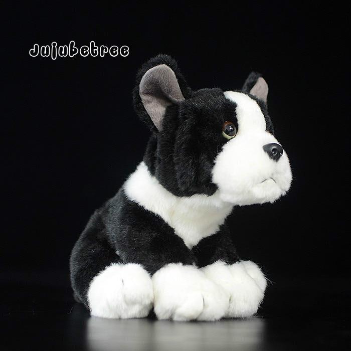 Black FRENCH BULLDOG Simulation pet dog plush toy puppy stuffed dolls kids gift toys for children