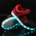 Led moda sneakers crianças das crianças carga usb luminosa iluminado sneakers meninos/meninas colorido luz children's shoes