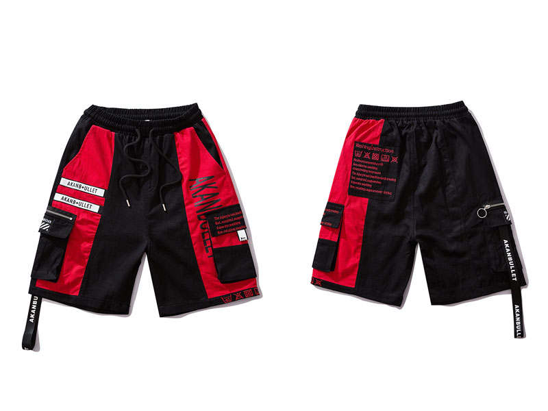 Side Ribbon Zipper Pockets Cargo Baggy Shorts 8