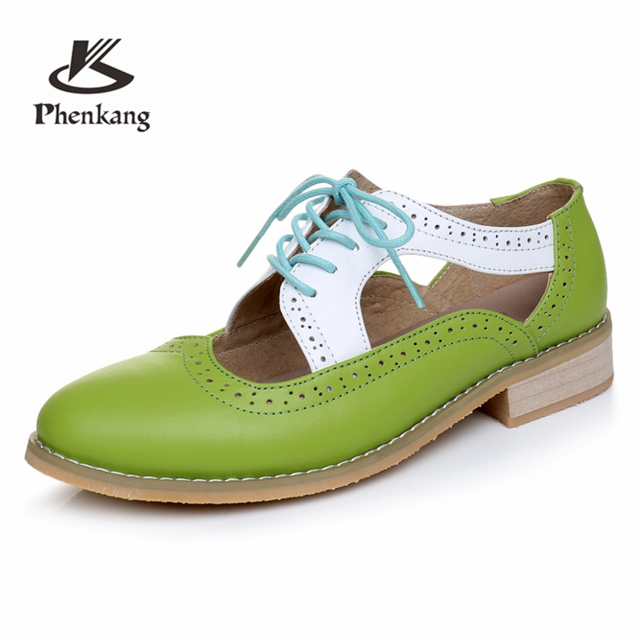 Genuine cow leather women sandals flat shoes vintage handmade oxford shoes for women sandals shoes black