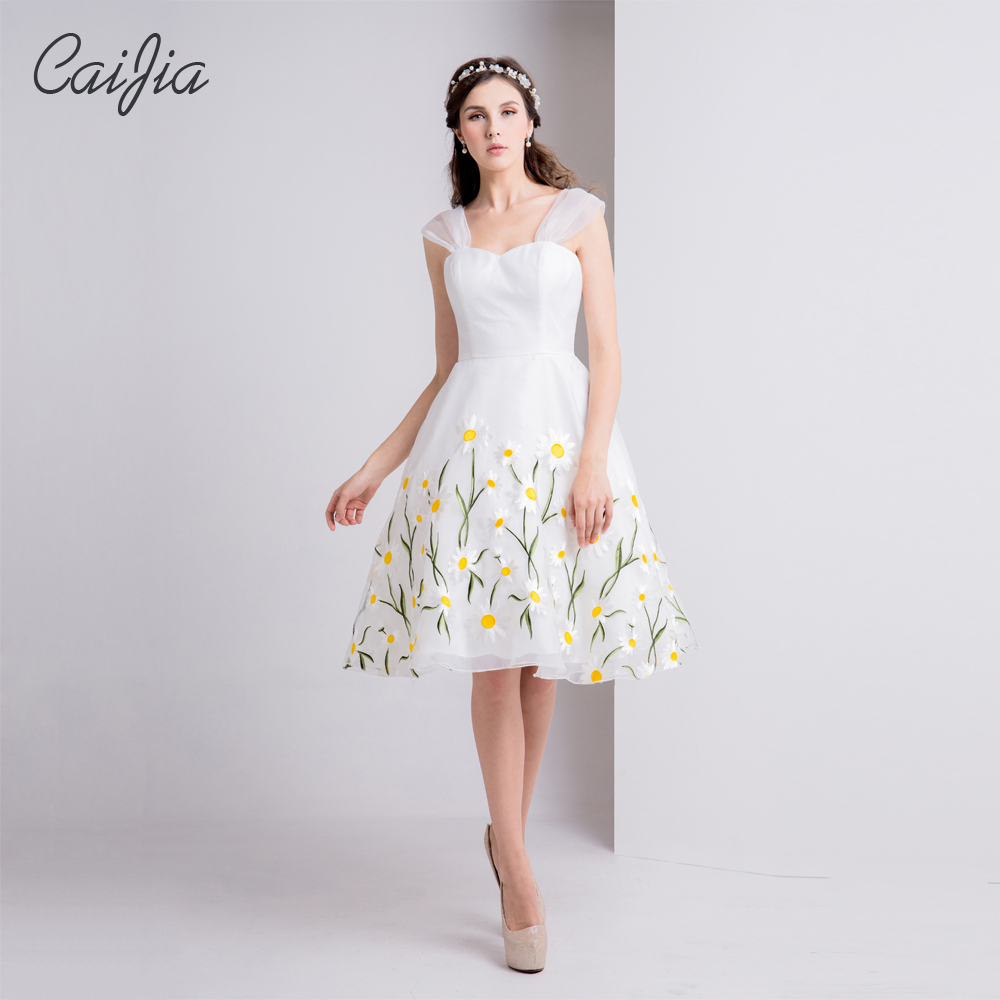 Caijia2017 Weiß Frischen Neuen Stil Süßen Trägerlosen Stickerei ...