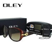 OLEY Surdimensionné lunettes de Soleil Rondes Femmes Polarisées Dames Élégantes Lunettes de Soleil Femme Lunettes oculos de sol feminina Nuances Y5103