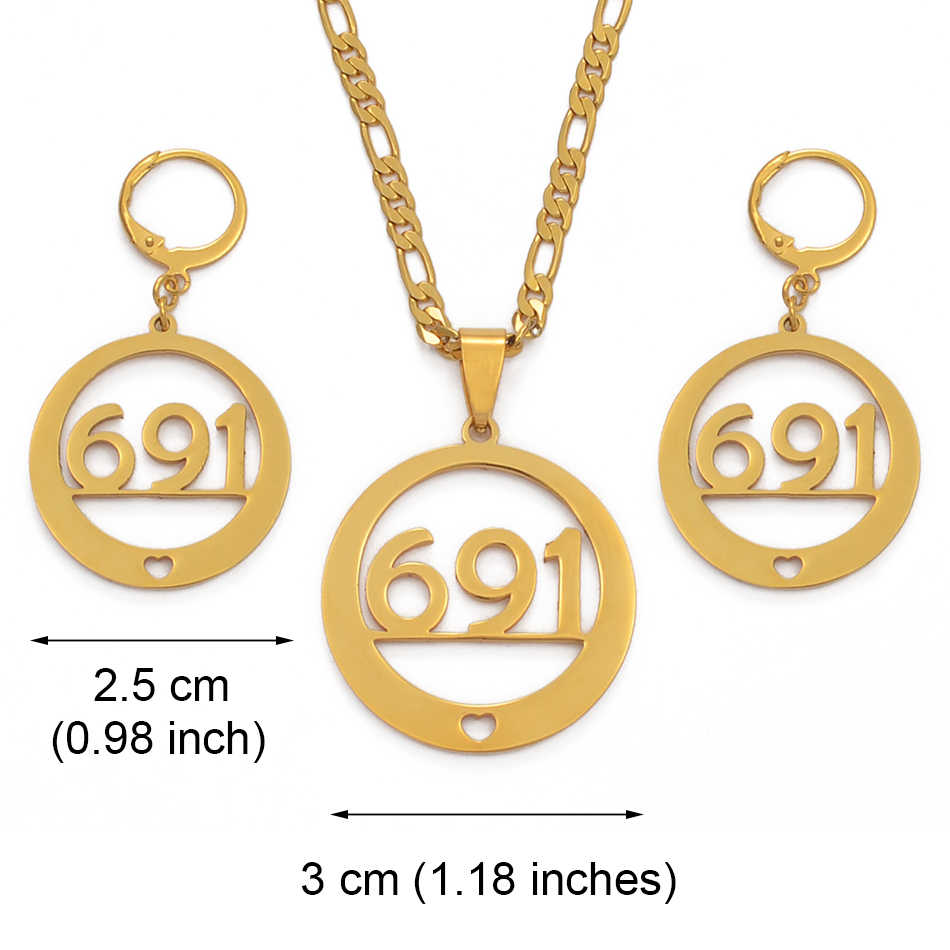 Anniyo 691 สร้อยคอต่างหูเครื่องประดับชุดแฟชั่นสีอัญมณีชาติพันธุ์ของขวัญไม่ปรับแต่งชื่อ #036821