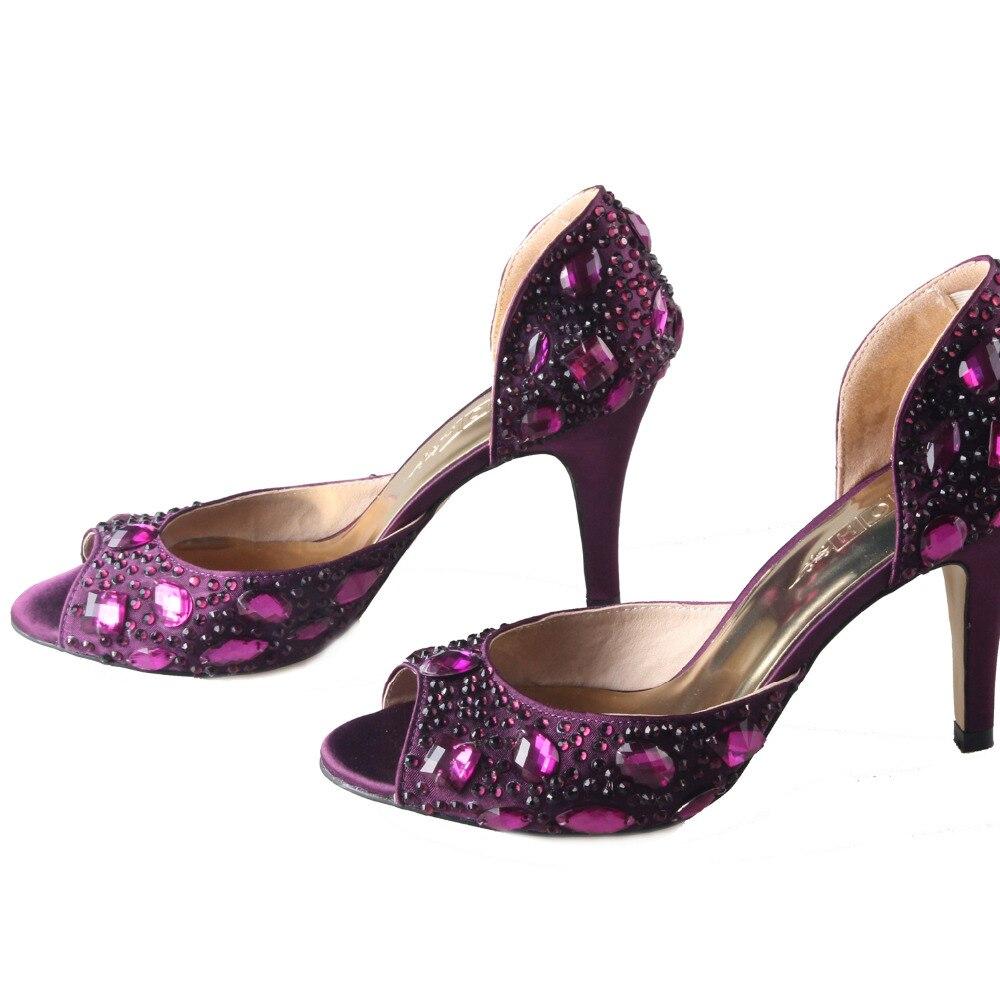 Eggplant color lady dress shoes